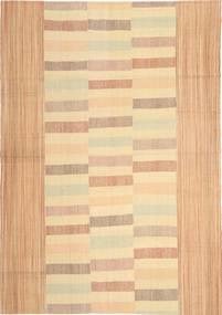 キリム モダン 絨毯 211X300 モダン 手織り 薄茶色/暗めのベージュ色の (ウール, ペルシャ/イラン)