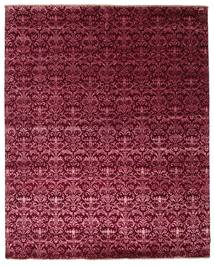 Damask Rug 243X301 Authentic  Modern Handknotted Dark Red/Purple ( India)