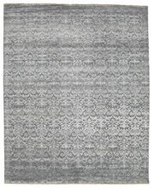 Damask Rug 253X310 Authentic  Modern Handknotted Light Green/Light Grey Large ( India)