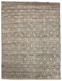 Damask Rug 232X308 Authentic  Modern Handknotted Light Brown/Light Grey ( India)