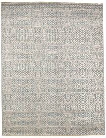 Damask Rug 241X314 Authentic  Modern Handknotted Light Grey/Dark Beige ( India)