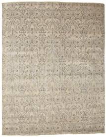 Damask Matto 236X305 Moderni Käsinsolmittu Vaaleanruskea/Vaaleanharmaa ( Intia)