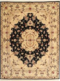 Tabriz 50 Raj Rug 151X195 Authentic  Oriental Handknotted Dark Beige/Light Brown (Wool, Persia/Iran)