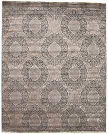 Damask Rug 235X310 Authentic  Modern Handknotted Light Grey/Dark Grey ( India)