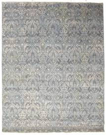 Damask Rug 244X309 Authentic  Modern Handknotted Light Grey/Dark Grey ( India)