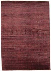 Damask Matto 262X370 Moderni Käsinsolmittu Tummanpunainen/Violetti Isot ( Intia)