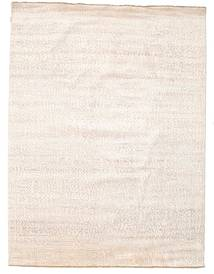 Damask Rug 231X306 Authentic  Modern Handknotted Beige/White/Creme ( India)