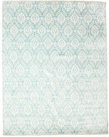 Damask 絨毯 238X304 モダン 手織り ホワイト/クリーム色/パステルグリーン ( インド)
