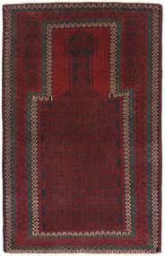 バルーチ 絨毯 86X140 オリエンタル 手織り 深紅色の/濃い茶色 (ウール, アフガニスタン)