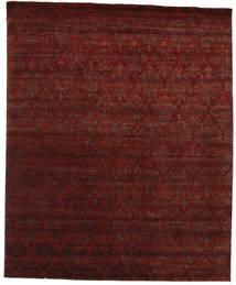 Damask Tapis 245X301 Moderne Fait Main Rouge Foncé/Marron Foncé ( Inde)
