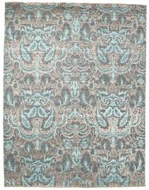 Damask Rug 243X313 Authentic  Modern Handknotted Light Grey/Dark Grey ( India)