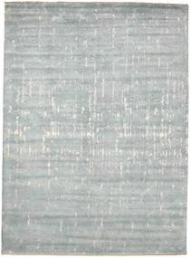 Damask Rug 274X374 Authentic  Modern Handknotted Light Grey/Beige Large ( India)