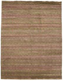 Damask Rug 245X315 Authentic  Modern Handknotted Light Brown/Brown ( India)