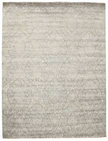 Damask Rug 276X359 Authentic  Modern Handknotted Light Grey/Dark Beige Large ( India)