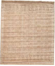 Damask Matto 253X305 Moderni Käsinsolmittu Vaaleanruskea/Vaaleanpunainen Isot ( Intia)