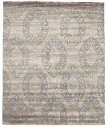 Damask Rug 256X310 Authentic  Modern Handknotted Light Grey/Light Brown Large ( India)