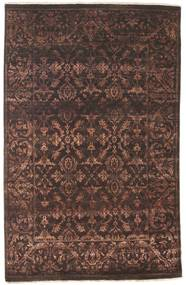 Damask Rug 138X215 Authentic  Modern Handknotted Dark Brown/Light Brown ( India)