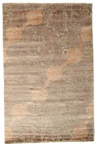Damask Rug 182X277 Authentic  Modern Handknotted Light Brown/Brown ( India)