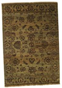Damask Rug 184X267 Authentic  Modern Handknotted Brown/Black ( India)