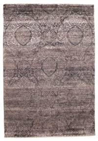 Damask Rug 167X238 Authentic  Modern Handknotted Dark Grey/Dark Brown ( India)