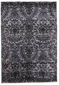 Damask Rug 169X243 Authentic  Modern Handknotted Dark Grey/Black ( India)
