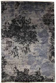 Damask Koberec 199X303 Moderní Ručně Tkaný Černá/Tmavošedý ( Indie)