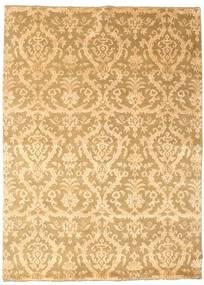 Damask 絨毯 176X241 モダン 手織り 薄茶色/暗めのベージュ色の ( インド)