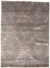 Damask Rug 176X243 Authentic  Modern Handknotted Light Grey/Dark Grey ( India)