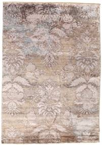 Damask Alfombra 169X240 Moderna Hecha A Mano Gris Claro/Beige ( India)