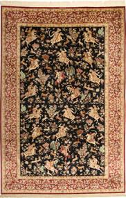 Ghom De Seda Signet: Lajevardi Alfombra 197X297 Oriental Hecha A Mano Marrón Claro/Negro (Seda, Persia/Irán)
