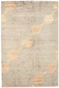 Damask Rug 180X270 Authentic  Modern Handknotted Light Brown/Beige ( India)