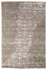 Damask Indo Matto 169X251 Moderni Käsinsolmittu Vaaleanruskea/Tummanharmaa ( Intia)