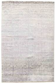 Damask Rug 199X301 Authentic  Modern Handknotted Light Grey/Beige ( India)