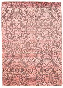 Damask Rug 175X246 Authentic  Modern Handknotted Light Pink/Purple ( India)