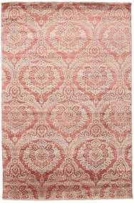 Damask Rug 199X303 Authentic  Modern Handknotted Light Pink/Light Brown ( India)