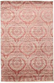 Damask Tappeto 199X303 Moderno Fatto A Mano Rosa Chiaro/Marrone Chiaro ( India)