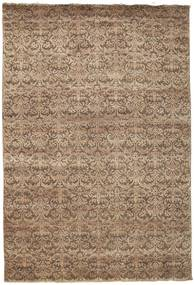 Damask Rug 207X304 Authentic  Modern Handknotted Light Brown/Brown ( India)