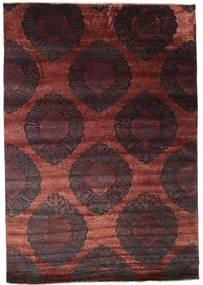Damask Matto 209X300 Moderni Käsinsolmittu Tummanruskea/Ruskea/Tummanpunainen ( Intia)