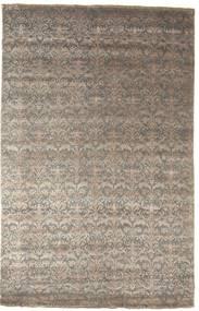 Damask 絨毯 195X305 モダン 手織り 薄茶色/濃いグレー ( インド)