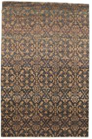 Damask Rug 172X263 Authentic  Modern Handknotted Brown/Dark Grey/Light Brown ( India)