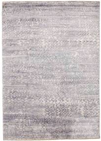 Damask Rug 175X246 Authentic  Modern Handknotted Light Grey/Beige ( India)