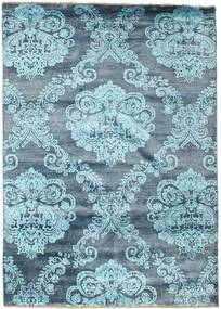 Damask Rug 173X245 Authentic  Modern Handknotted Light Blue/Blue ( India)