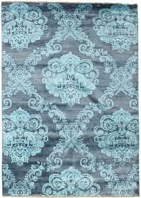 Damask Matto 173X245 Moderni Käsinsolmittu Vaaleansininen/Sininen ( Intia)