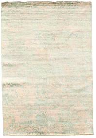Damask Rug 168X246 Authentic  Modern Handknotted Beige/White/Creme ( India)