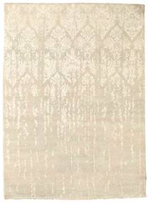 Damask Rug 155X212 Authentic  Modern Handknotted Beige/Light Brown ( India)