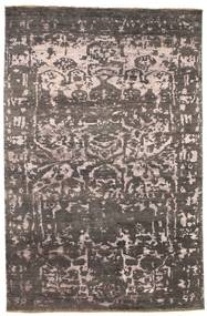Damask Rug 176X269 Authentic  Modern Handknotted Dark Grey/Light Brown ( India)