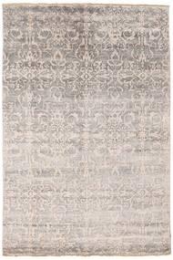 Damask Dywan 174X260 Nowoczesny Tkany Ręcznie Jasnoszary/Biały/Creme ( Indie)