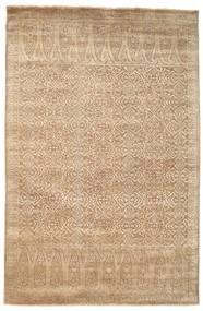 Damask Matto 197X301 Moderni Käsinsolmittu Vaaleanruskea/Tummanbeige ( Intia)