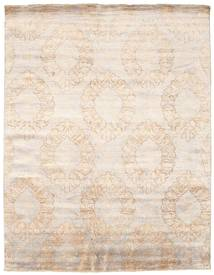 Damask Rug 239X308 Authentic  Modern Handknotted Beige/White/Creme ( India)