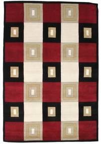 Himalaya Rug 141X208 Authentic  Modern Handknotted Dark Red/Beige/Black ( India)
